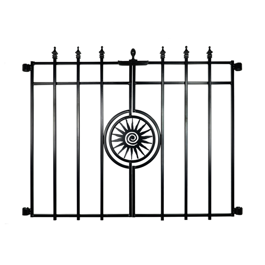 Lowes Garden Gates With Sun In Center Of The Fence, Its From Steal